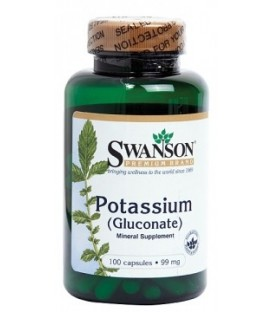 Potasiu (Gluconate) 99 mg, 100 capsule