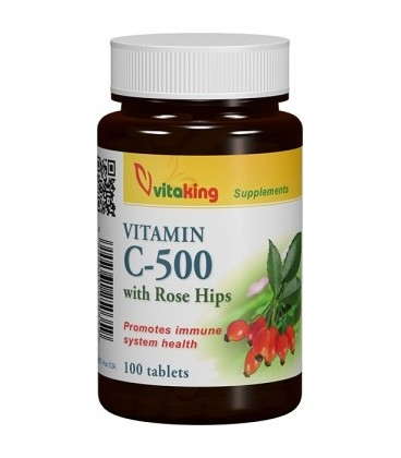 Vitamina C, 500 mg cu macese- 100 comprimate