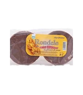 Rondele din grau cu glazura de ciocolata, 75 grame