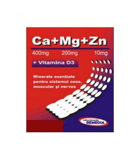 Ca + Mg + Zn + vitamina D3, 20 doze