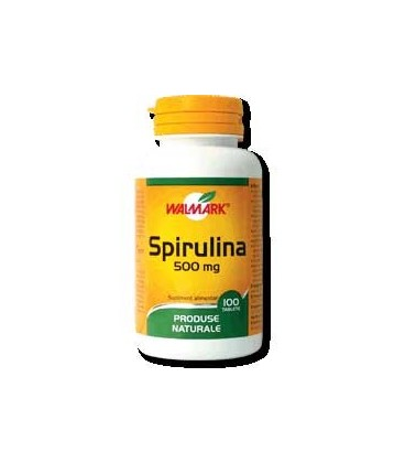 Spirulina 500 mg, 30 capsule