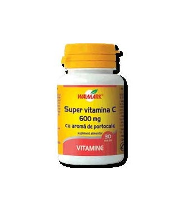 Super vitamina C 600 mg, 30 comprimate