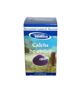 Calciu stridii + vitamina D3, 40 capsule