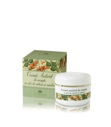 Crema Antirid de noapte cu ulei de catina si masline (50 ml)