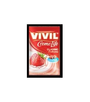 Vivil Creme Life Capsuni fara zahar, 140 grame
