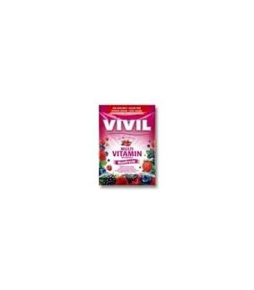 Vivil Multivitamine Fructe de padure  fara zahar, 60 grame