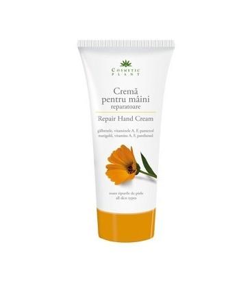 Crema reparatoare pentru maini cu extract de galbenele si vitaminele A, F si pantenol (150 ml)