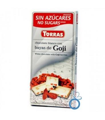 Ciocolata Alba cu fructe Goji, 75 grame