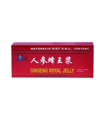 Royal Jelly&Ginseng, 10 fiole x 10 ml
