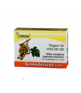 Gemoderivat din muguri de vita de vie, 30 monodoze x 1.5 ml
