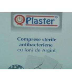 Comprese sterile antibacteriene cu ioni de argint (AG+) - Qplaster, 1 bucata