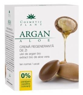Crema regeneranta de zi cu ulei de argan si aloe (Bio), 50 ml