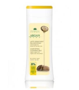 Lapte demachiant reconfortant cu ulei de argan si aloe (Bio), 200 ml