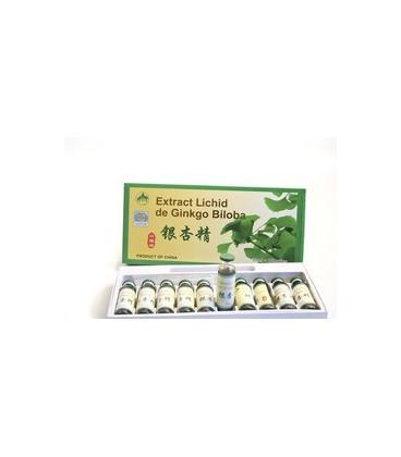 Extract lichid de Ginkobiloba, 10 fiole