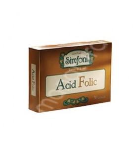 Acid Folic Simfoni, 30 capsule