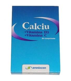 Calciu + Vitamina C + Vitamina D3, 20 capsule