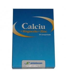Calciu + Magneziu + Zinc, 20 tablete