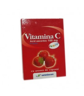 Vitamina C junior 180 mg capsuni, 20 tablete