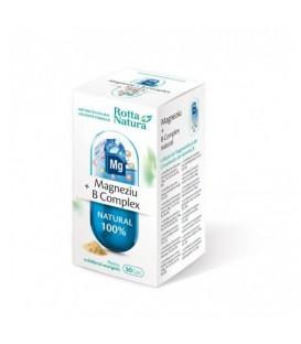 Magneziu + B complex natural, 30 capsule