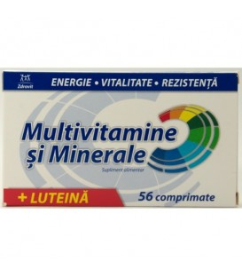 Multivitamine + minerale + luteina, 56 tablete