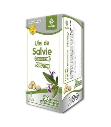 Ulei de salvie, 500 mg x 30 capsule