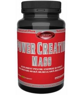 Power Creatine Mass cu capsuni, 900 grame