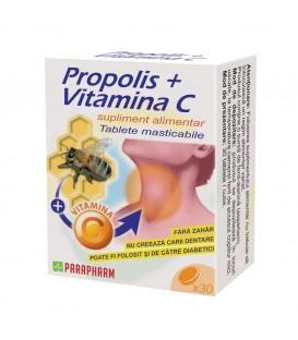Propolis + vitamina C, 30 capsule