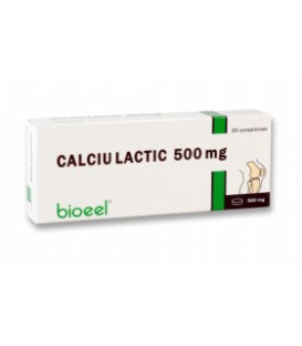 Calciu lactic 500 mg, 20 tablete