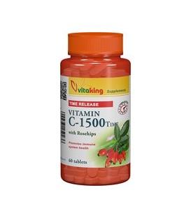 Vitamina C 1000 mg cu absorbtie lenta, 60 tablete
