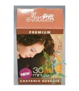 Henna premium castaniu deschis, 60 grame