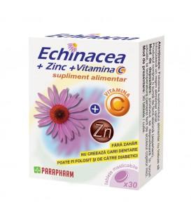 Echinacea + Zinc + vitamina C, 30 capsule