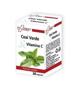 Ceai Verde & Vitamina C, 30 capsule
