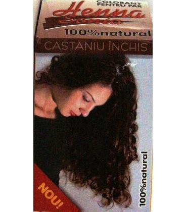 HENNA CASTANIU INCHIS , 100 GRAME