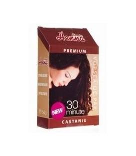 Henna premium castaniu, 60 grame
