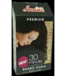 Henna premium negru auriu, 60 grame