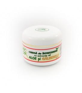 Crema de intretinere cu aloe & galbenele, 50 grame
