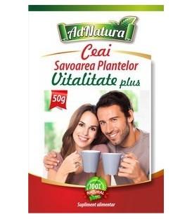 Ceai vitalitate+ (Savoarea Plantelor), 50 grame