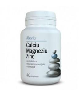 Calciu + Magneziu + Zinc, 40 tablete