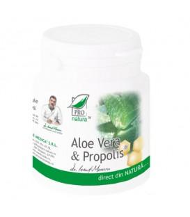 Aloe vera si propolis, 200 capsule